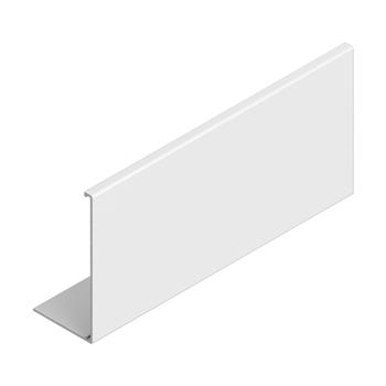 "0-154-FA-4LWXX | 4"" Aluminum Notchless Privacy Fascia - White"