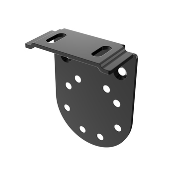 "0-154-PB-E01XX | EURO Small Bracket for End Support 1.5"" Projection"