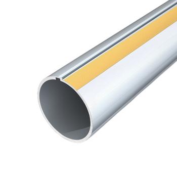 "0-154-TU-5021X | 2"" (50 mm) Recessed Keyed Aluminum Tube"