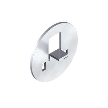 0-155-BR-0008I | Small Tab Attachment Plate for HM Zinc Plated