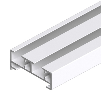 0-181-CA-00200 | Sliding Panel 2 Channel Aluminum Track - White