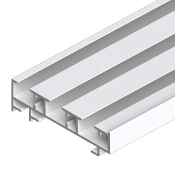 0-181-CA-00300 | Sliding Panel 3 Channel Aluminum Track - White