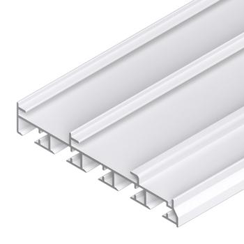 0-181-CA-00510 | Sliding Panel 5 Channels Aluminum Track for Valance - White
