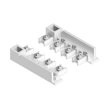 0-181-CA-01010 |  Sliding Panel 4 Channel End Unit Guide Left/Right for Valance - White