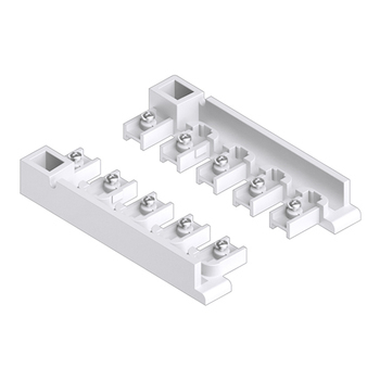 0-181-CA-01110 | Sliding Panel 5 Channel End Unit Guide Left/Right for Valance - White