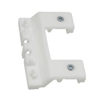 0-181-CA-01810 | Sliding Panel Double Support With Screws for Frontal Installation - White