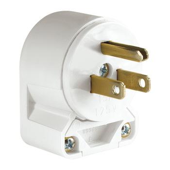 6-700-EL-PLUG1 | PVC 90 Degree, Ground Plug 110V-White