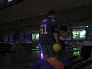 GOOOOOO BUBBA!!! - From the post reception party at the bowling alley.
