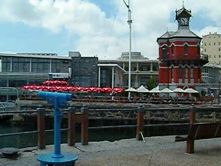 A pan of the V&A Waterfront Capetown