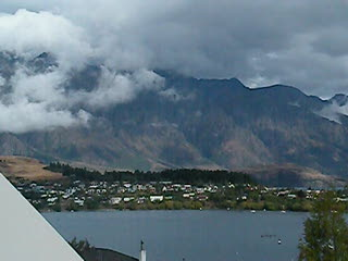 The remarkables from our balcony at Queenstown