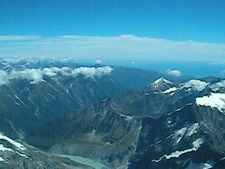 Flying over Mount Cook