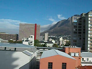 Table Mountain and our Hotel Room