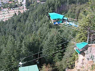 A bungy jump from the platform at the top of the Queenstown gondola