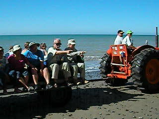 The tractor ride to Cape Kidnappers