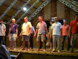 The Haka performed by the guests