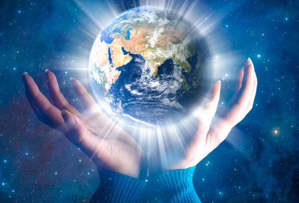 4 cosmic earth & Hands