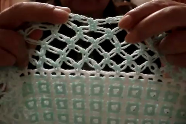 Curso video crochet (ganchillo). servilletas bordadas y orillas