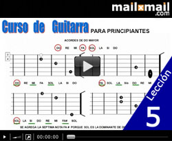 Curso vdeo Guitarra para principiantes. Acordes y escalas (DO mayor-LA menor)