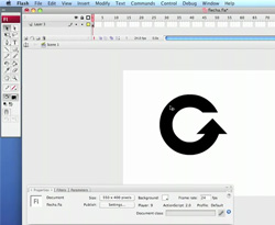 Curso vídeo Vídeo-tutorial Flash CS4. Animación: flecha de loading