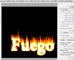 Curso vdeo Photoshop. Texto con efecto de fuego