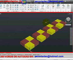 Curso vídeo Tablero de ajedrez. Autocad civil