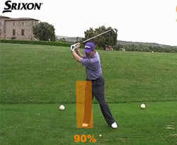 Curso vídeo Golf online (clases). Distribución del peso (swing golf)