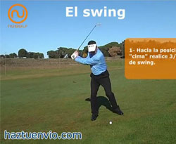 Curso vídeo Clases de golf online. Swing en lie de subida (claves)