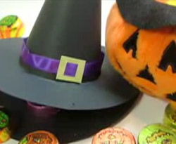 Curso vdeo Manualidades de halloween. Sombrero de bruja