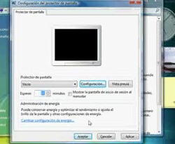 Curso vídeo Windows Vista. Configurar el protector de pantalla