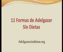 Curso vdeo Formas de adelgazar. Sin dietas