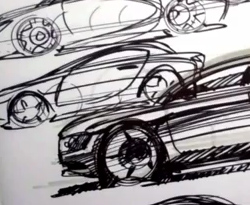 Curso vdeo Autos. Tips para dibujo a mano