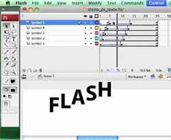 Curso vídeo Tutorial Flash (con vídeo). Efecto: animación de texto
