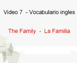 Curso vídeo Vocabulario de inglés. La familia (the family)