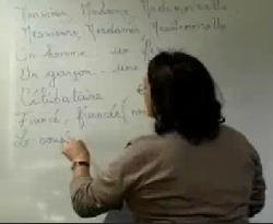 Curso vdeo Francs. Les adjectifs possessifs. Los adjetivos posesivos