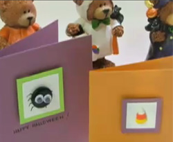 Curso vdeo Manualidades para halloween. Tarjetas