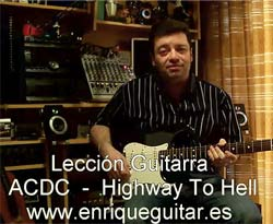 Curso vídeo Guitarra. Highway to hell
