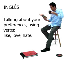 Curso vídeo Aprender inglés básico. Verbos like, love, hate