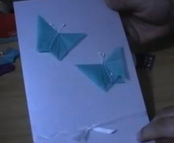 Curso vdeo Mariposas de origami para invitacin de boda