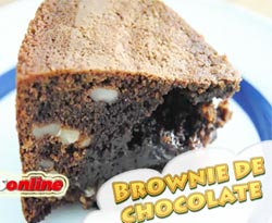 Curso vídeo Receta fácil. Brownie de chocolate