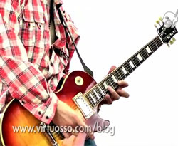 Curso vídeo Guitarra. Picking con escalas pentatónicas