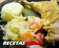 Curso vdeo Recetas de cocina. Pollo escabechado