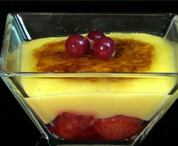 Curso vdeo Crema de limn con fresas. Recetas de postres