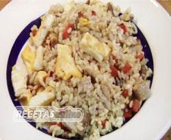 Curso vídeo Arroz con lomo y tortilla china. Receta