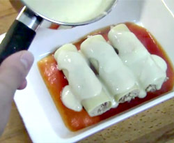 Curso vdeo Canelones rellenos de pollo. Recetas fciles (pasta)