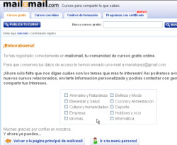 Curso vídeo Registrarse en mailxmail. Vídeo-tutorial
