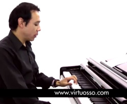 Curso vídeo Tocar piano. Ritmo merengue
