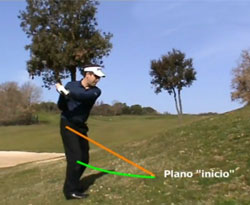 Curso vídeo Clases de golf. Secretos del swing en lie inclinado