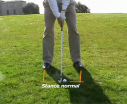 Curso vídeo Clases de golf. Swing: lie inclinado, pies más altos