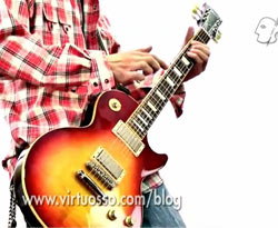 Curso vídeo Guitarra. Tapping con armónicos artificiales