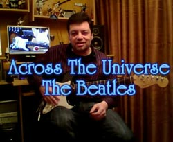 Curso vídeo Introducción de la canción Across the Universe (The Beatles). Acordes de guitarra